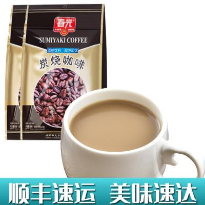 炭烧咖啡360gX2袋 春光 冲调速溶咖啡粉三合一食品特浓传统经典香浓正宗海南特产