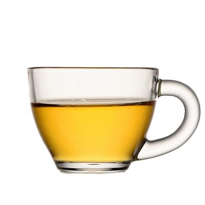scybe喜碧 玻璃茶杯小杯子带把耐热功夫小茶杯玻璃茶杯单支装