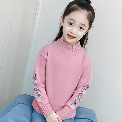 女童毛衣套头针织衫秋装韩版儿童半高领打底衫中大童冬季