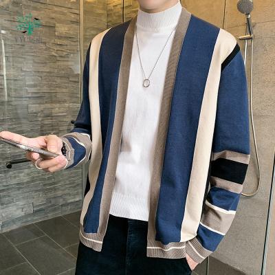【廠家直營】秋季2020新款男士針織衫韓版潮流個性帥氣外穿休閑開衫毛衣外套潮運動毛衣森賓都