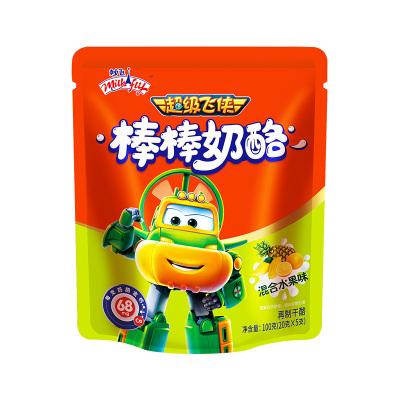 妙飞儿童棒棒奶酪棒 儿童健康营养零食乳酪 高钙宝宝辅食干酪 混合水果味1袋 100克(5支)