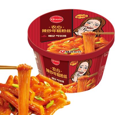 農心進口辛拉面泡面出品辣炒年糕韓式炒年糕粉絲原味128g