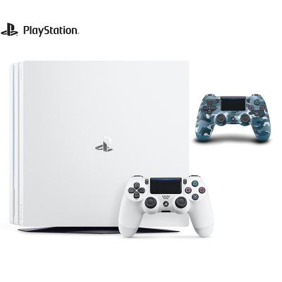 【套餐】索尼(SONY)PS4 Pro1TB国行家用游戏机白色+ PlayStation 4 游戏手柄(迷彩蓝)