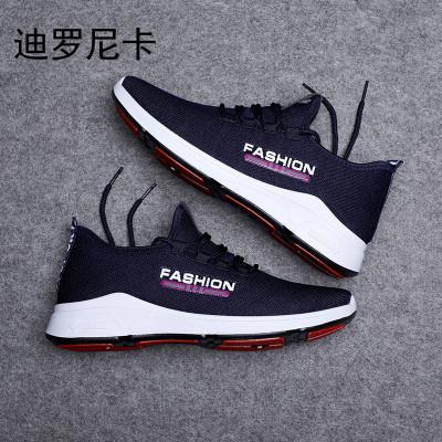 迪羅尼卡新款透氣潮鞋運動休閑鞋韓版青年潮流百搭網面跑步鞋供應平跟網鞋