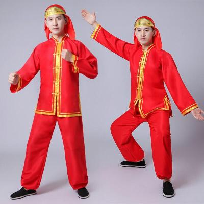 秧歌服2018男女成人套裝中老年腰鼓鑼鼓打鼓演出舞龍舞獅服裝