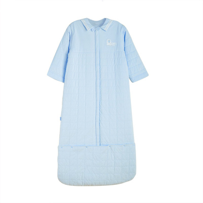 良良 DS16S10-1 寶寶成長睡袋秋冬季嬰兒防踢被純棉加厚兒童可脫膽拆袖睡袋 90-115cm