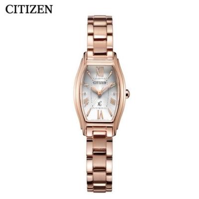 国行 西铁城(CITIZEN)手表 光动能XC镀粉金色钢带时尚女表EW5543-54A