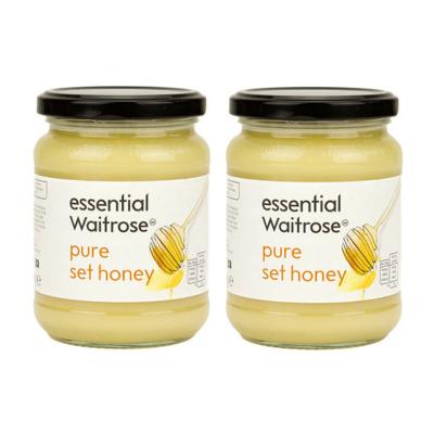 英国进口 Waitrose 纯结晶蜂蜜 玻璃罐装 454g*2瓶