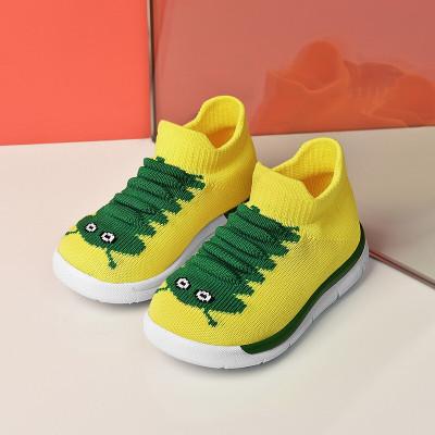 絳天男童鞋女童鞋子毛毛蟲童鞋2020夏季新款寶寶襪子鞋網面透氣輕便小嬰兒學步鞋
