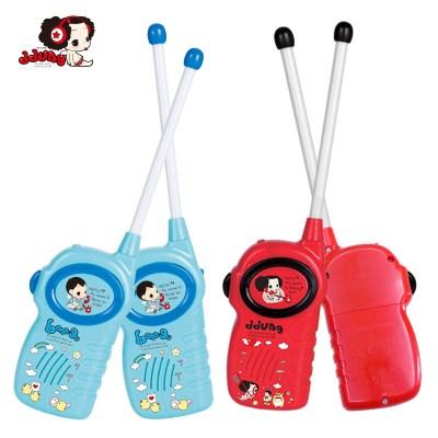 玩具女孩男孩冬己兒童對講機戶外機無線通話對話機男孩女孩對講電話機一對FDE382(藍色)285*195*30塑料。3歲上