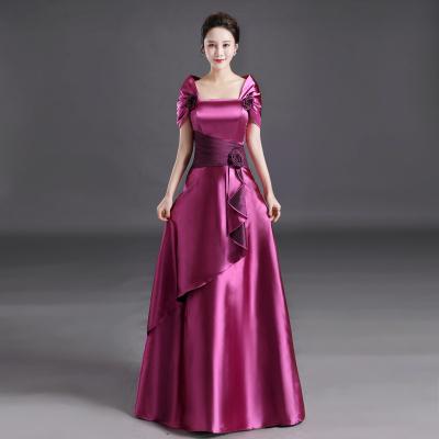晚禮服長款新款夏季宴會時尚高貴優雅主持人禮服連衣裙女 臻依緣