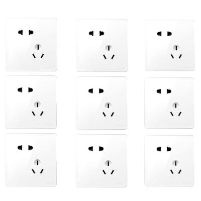 德力西(DELIXI)开关插座面板 电源插座CD821 系列套装 其他86型电源插座 五孔插座套装 CD821