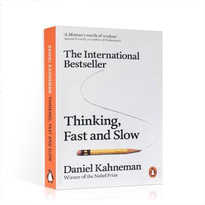 英文原版書籍思考快與慢 快思慢想康納曼 Thinking Fast and Slow 經濟管理類書 工商管理類