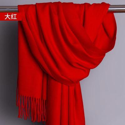 围巾冬季披肩冬天红色秋冬季两用