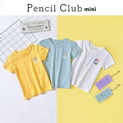 鉛筆俱樂部童裝2020夏裝新男童圓領T恤小童寶寶短袖兒童棉質上衣