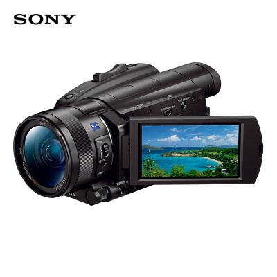 索尼(SONY)FDR-AX700 4K HDR民用高清数码摄像机 家用直播婚庆会议 1000fps超慢动作 4K数码摄像机手持DV 五轴防抖约1420万像素 3.5英寸屏 标配版