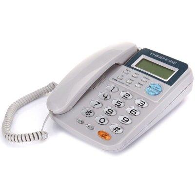 中诺(CHINO-E)C168电话机座机 固定电话 办公家用 R键转接 一键重拨 免电池 双接口 白色