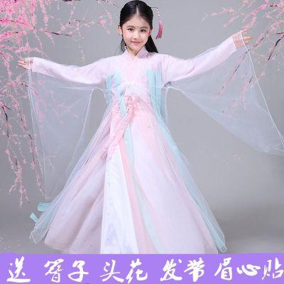 圣誕節三生三世十里桃花白淺楊冪cos同款兒童古裝演出服女仙女服裝漢服