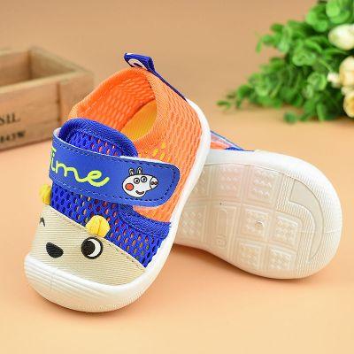 春秋夏季款男女寶寶學步鞋單鞋軟底布鞋嬰兒鞋6叫叫鞋網眼0-1-2歲 纖婗(QIANNI)