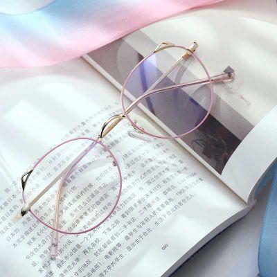 眼鏡女韓版學生貓耳朵平光鏡無度數防防輻射眼鏡 莎丞(SHACHEN)藍光