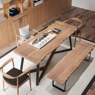 花千紫功夫辦公室1米8茶桌實木茶臺茶幾新中式禪意家用茶桌椅組合小茶臺