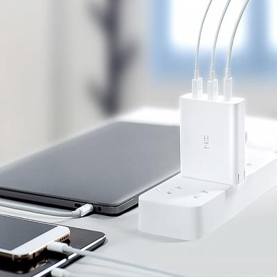 ZMI紫米65W支持QC3.0 PD2.0快充三口MAX 3.6A充電頭/適配器充電器、筆記本平板充電適用于安卓蘋果手
