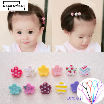 keco sweet 30/50個兒童小抓夾卡頭飾寶寶飾品夾子短女孩花朵公主夾