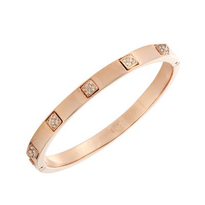 施華洛世奇SWAROVSKI 人造水晶玫瑰金手鐲女士密鑲水晶手鐲飾品5098834