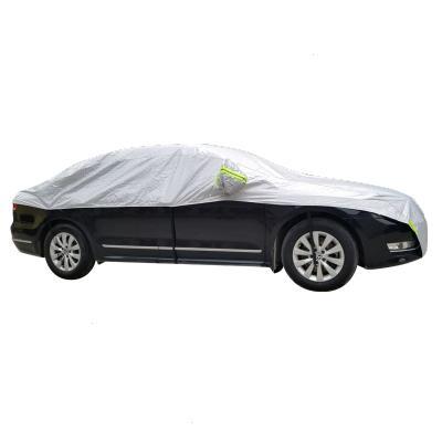 冬季汽車前擋風玻璃雪檔防凍防霜保暖加厚半罩車衣防雨雪防刮套 銀色前檔 SUV通用