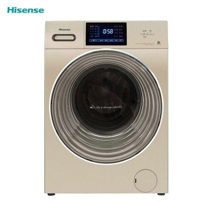 (99)海信(Hisense)XQG100-UH1405AYFIJG 10kg家用變頻滾筒洗衣機 洗干一體 智控全面屏