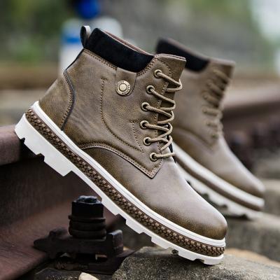 VIDAL SASSOON男靴SAG-A8222A秋冬季新款jun靴户外工装靴马丁靴子男士休闲短筒皮鞋潮防滑防水男鞋