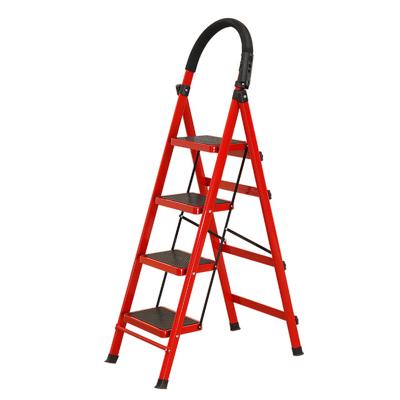 家用室內折疊四步梯多功能人字梯四層加寬加厚鋼管扶梯顏色備注