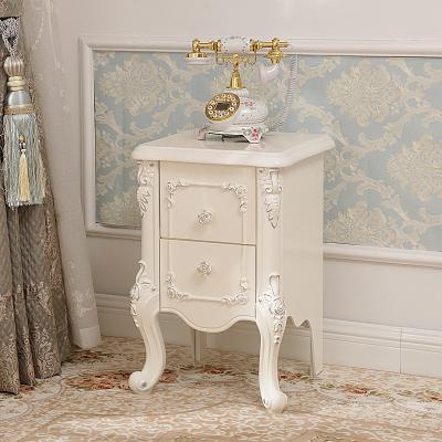 床头柜 窄款床边小柜子新款家具30cm35cm40cm45宽小户型欧式简约迷你床头 C款高脚(40cm)银色象牙白 整装