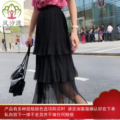 L妈 亲子装半身裙母女装蛋糕裙潮夏洋气网红亲子裙网纱裙图片件数为展示