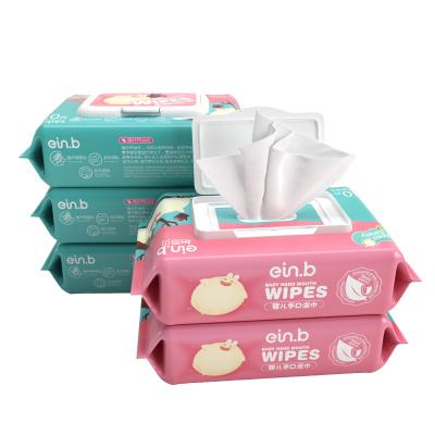 【第2件半價】怡恩貝嬰幼兒手口清潔家用濕巾80抽*5包裝寶寶濕巾紙