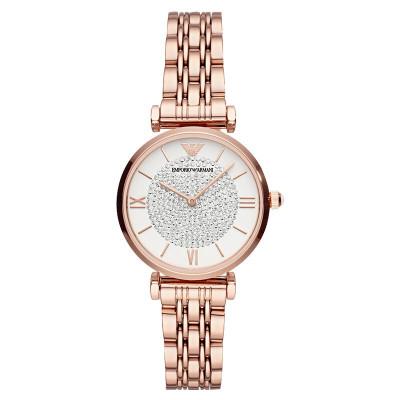 阿玛尼(EMPORIO ARMANI)满天星手表 19年新款时尚优雅镶钻表盘休闲潮流女士石英腕表 AR11244