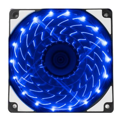 IPASON/攀升 VTG臺式炫光靜音光輪電腦機箱風扇12cm機箱散熱風扇 藍色風冷燈珠風扇