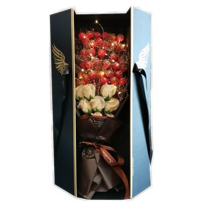 天使之翼礼盒创意52颗棒棒糖巧克力花束卡通花束毕业情人节礼物送女朋友生日礼物女生实用走心老婆媳妇特别浪漫的创意惊喜异地恋