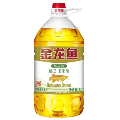 金龙鱼纯正玉米油 4L 桶装压榨一级食用油 新老包装随机发货