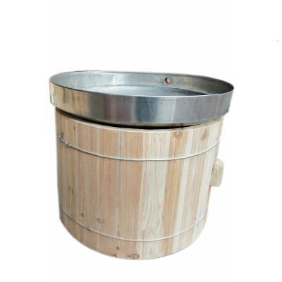 傳統古法大小型天鍋木甑釀酒設備火烤蒸米高粱酒器家用酒坊木制【定制】 液態底直徑100*高50型
