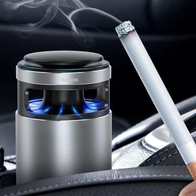 倍思(Baseus)車載空氣凈化器前座汽車氧吧竹炭包功能凈化空氣活性炭車用除味除甲醛煙味PM2.5 青空灰<30db