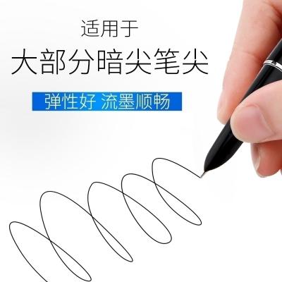 送钢笔钢笔尖10-20个装卡通学生专用暗尖直尖通用钢笔头英雄永生毕加索等特细0.38大尖 10个笔尖 0.5mm