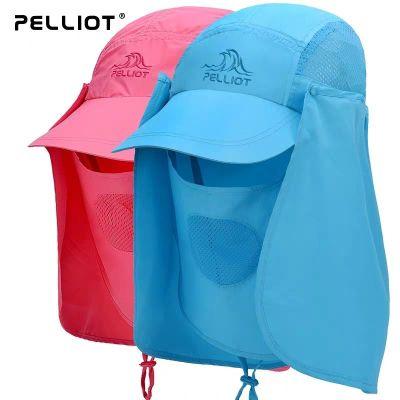 伯希和戶外防曬帽子男女夏季垂釣釣魚防紫外線防曬透氣徒步沙漠防風沙漁夫帽遮陽騎行釣魚帽