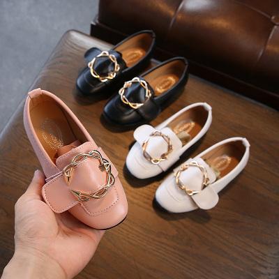 夏季新款女童皮鞋韓版平底小女孩黑色公主鞋兒童單鞋女豆豆鞋 TCVV