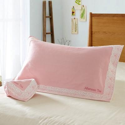 潔麗雅全棉枕巾枕巾純棉成人紗布毛巾枕巾純棉枕巾一對情侶