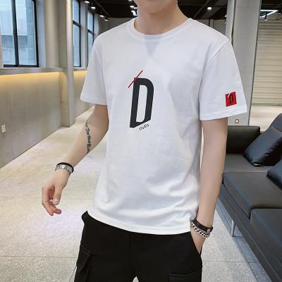 蒙洛里克 短袖T恤男2020夏季新品男士休閑全棉字母印花百搭T恤衫MY2007
