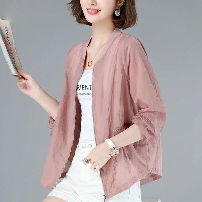 防曬衣女長袖常規款透氣寬松洋氣小個子韓版短款百搭大碼立領外套潮威珺