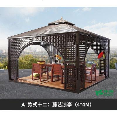 顾致户外凉亭庭院室外花园罗马帐篷休闲欧式铝合金亭子阳台遮阳棚亭子