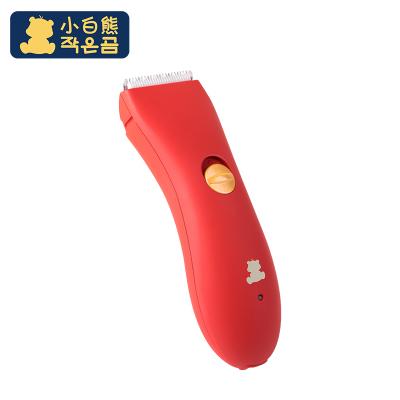 小白熊(XIAOBAIXIONG)婴儿理发器静音宝宝剃头理发器 初生儿童电推剪红色09989