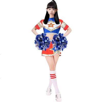 啦啦操服装男女成人儿童健美操服装中小学生团体拉拉队比赛演出服